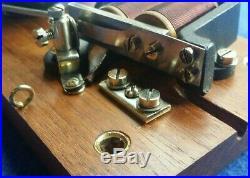 Antique Vintage Original Electric Door Railway Butler Alarm Shop Bell Wood Brass