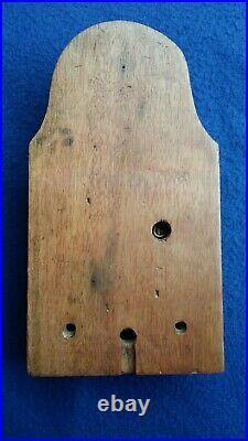 Antique Vintage Original Gent Electric Door Railway Butler Alarm Bell Wood Brass