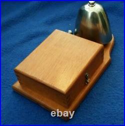 Antique Vintage Original Tangent Electric Door Railway Butler Bell Wood Brass