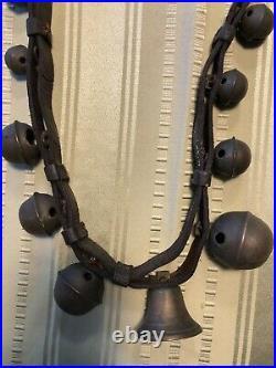 Antique Vintage Victorian Brass Sleigh Bells