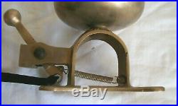 Antique Vtg Solid Brass Street Trolley Car Bell Patent Applied For 4-1/2 Loud