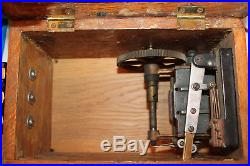 Antique WESTERN ELECTRIC Telephone Wooden Case Wall Box Crank Brass Bell Ringer