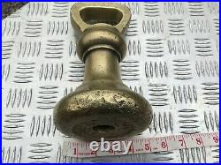 Antique W & T Avery Brass 14 Lb Bell Weight 9 Long 4.5 Wide Cast In B'ham Uk