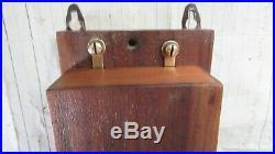 Antique Wood & Brass Electric Doorbell 3 -6 volts (butlers maid door bell)
