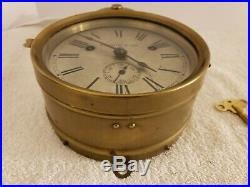 Antique Working 1880's SETH THOMAS Brass Bottom Bell Ship's Bell Ship Wall Clock