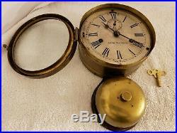 Antique Working 1880's SETH THOMAS Brass Bottom Bell Ship's Bell Ship Wall Clock
