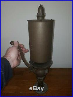 Antique XL Brass Steam Whistle Locomotive, 6 Bell Diameter, 20.5 Tall