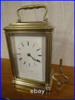 Antique bell striking carriage clock by Japy Freres c. 1860 overhauled 09/20
