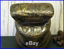 Antique brass 2lb bell weight William IV made 1830 to 1837 Callington Cornwall