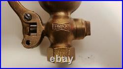Antique brass penberthy single chime whistle valve steam air bell locomotive