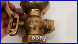 Antique brass penberthy whistle valve steam air bell locomotive 13 1/4 height