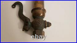 Antique brass single chime whistle valve steam air bell locomotive