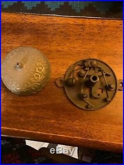 Antique c. 1873 CONNELL'S PATENT Brass Door Bell + Striking Lever Working RING