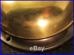 Antique c. 1893 RUSSELL And ERWIN R&E Brass Door Bell Extra Long Thumb Turn
