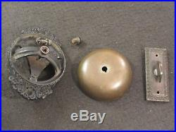 Antique c. 1893 RUSSELL And ERWIN R&E Brass Door Bell Thumb Turn Twist Mechanism