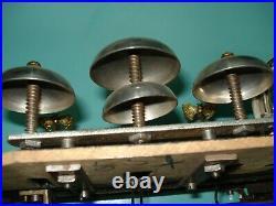 Antique swiss Butterfly bells & drums Brass Music box Cylinder RESTORATION PARTS
