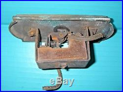 Art Nouveau Industrial Cast Iron Brass Hotel Elevator Switch Car Push Door Bell