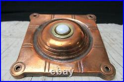 Arts & Crafts Copper & Brass Square Door Bell Push China Button
