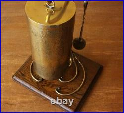 Arts & Crafts Dinner Table Gong. Antique Hammered Brass & English Oak Bell Chime