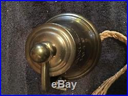 Authentic Antique 1949 S. S. Himalaya Brass Nautical Ships Bell WithOriginal Rope