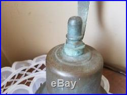 Authentic Antique S. S. Hamburg Brass Nautical Ships Bell With Bracket