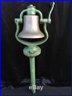 Authentic Antique Solid Brass Locomotive Conductors Bell Nice Condition Working