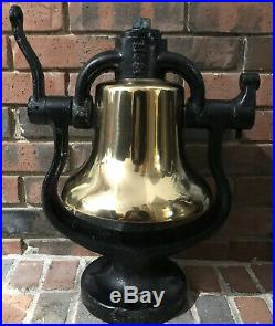 Authentic Antique Steam Locomotive Brass Bell Great Condition
