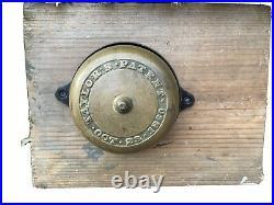Authentic Antique Victorian Mechanical Door Bell Taylors Patent 1860 Excellent