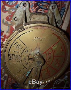 BENDIX Brass SHIP'S WWII Liberty Ship style TELEGRAPH, no bell
