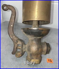 BRASS Single Chime Whistle Valve Antique Steam Air Hit Miss Vintage Bell