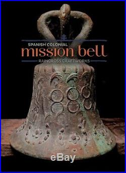 BRONZE MISSION BELL, Vtg Antique Spanish Colonial Mexican Church Brass Mexico
