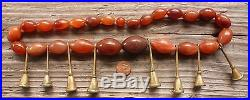 (B) Antique Nagaland Carnelian Beads Trumpet Brass Bells Naga Ao Burma India