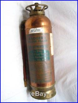 Badger Antique Copper/Brass Bell System Water Filled Fire Extinguisher KS-6878
