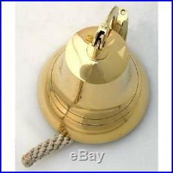 Bell Brass Ship Nautical Bells 6 Solid Wall Vintage Ships Decor Anchor Antique