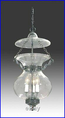 Bell Jar Light Chandelier Pendant Hall Lantern American Empire Antique Style