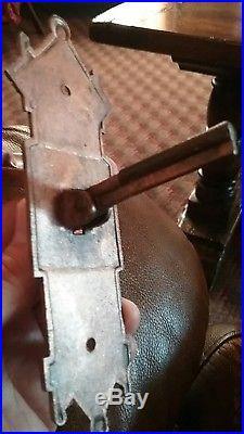 Bluebird brass old pull Down Style DOOR BELL T-LEVER Handle antique