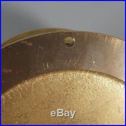 Brass Chelsea Clock Ships Bell Vintage 1970-1974 + Barometer 4.5 Dial