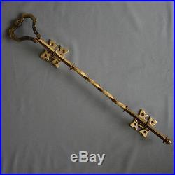 Brass Lichfield Front Door Bell Pull & Bell