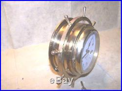 Brass Ships Bell Clock