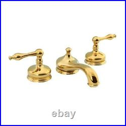 Brass Widespread Bathroom Faucet Heavy Duty Lux Belle Design Includes Drain