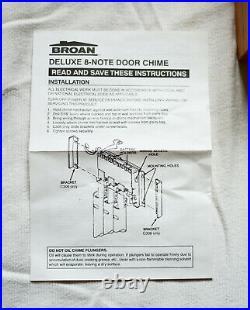 Broan NuTone C306 Brass & Oak 8 Note Door Bell/Chime (New Old Stock)