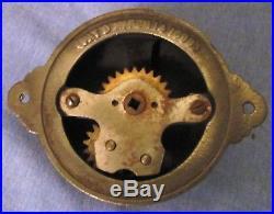 Bronze Twist Door Bell Antique Brass Door Non Electric Hand Crank Turn RARE