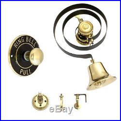 Butlers Bell Kit Brass, Brass Pull