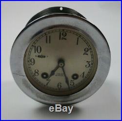 CHELSEA SHIPS BELL CLOCK earlier 1950's All Original 3 5/8 Dial # 587511