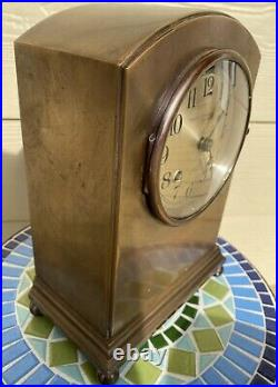CHELSEA SHIPS BELL MANTEL CLOCK SHERATON STYLE 4 1/2 IN DIAL Ca. 1922