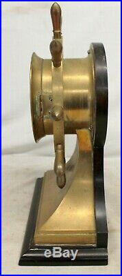 CHELSEA Ships Bell Clock CHAS C. HUTCHINSON Running UNTOUCHED Barn Find