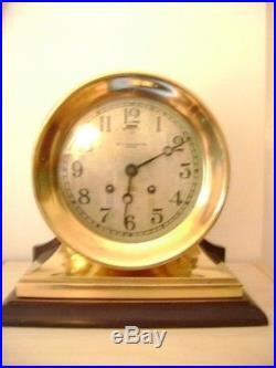CHELSEA Ships Bell Clock, Commander Model, 6 Dial