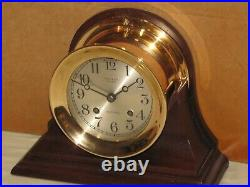 Chelsea Antique Ships Bell Clock4 1/2 In Dial1912red Brassrestored