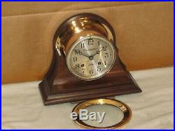 Chelsea Antique Ships Bell Clock4 1/2 In Dial1925red Brassrestored