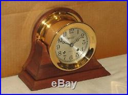 Chelsea Antique Ships Bell Clock4 1/2 In Dial1926red Brassrestored